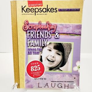 Leisure Arts Scrapbooking Family &Friends Book NWT